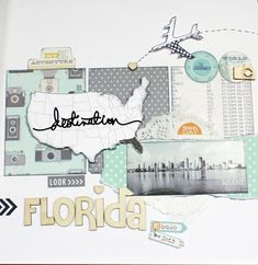 #papercraft #scrapbook #layout. Tutto quanto fa scrap: Layout - Florida on the road