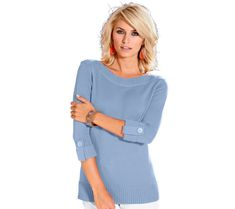 Topseller: Casual Looks Pullover in angesagter OptikBaur. Pullover, Knit Patterns, Casual Looks, Sweaters, Collection, Dresses, Form, Products, Fashion
