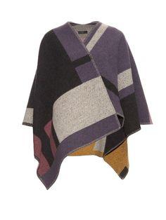 BURBERRY PRORSUM Wool And Cashmere-Blend Wrap. #burberryprorsum #cloth #wrap