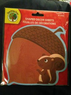 1 Pkg: Educational Chipmunk/Acorn Decor Sheets~~ (Thin Like A Notepad) Adorable | eBay I have 4 left in my store @ only $2.25 each