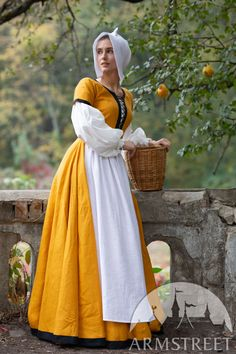 Medieval Costume, Medieval Dress, Adventure Outfit, Stylish Hats, Renaissance Clothing, Beautiful Costumes, Under Dress, Custom Dresses, Complete Outfits