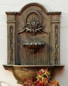 wandbrunnen design stattlicher look garten gestalten