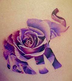 Lavender Colored Flower/Elephant.
