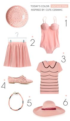 vintage pink -  I like them as individual pieces, but all together its a little too much!!