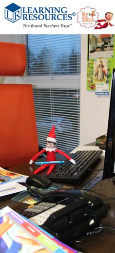 Our MD, Dennis Blackmore, has left to travel to the US for New Products Meetings. Jane the Elf thought she'd make herself comfy in his office for the day! Cheeky! #Elfontheshelf
