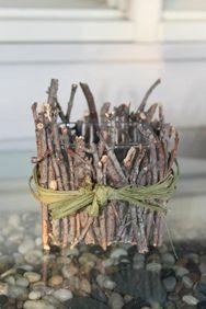 DIY twig votive