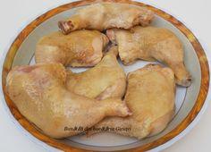 Pulpe de pui pe varza la cuptor - Bunătăți din bucătăria Gicuței Potatoes, Chicken, Meat, Vegetables, Food, Vegetable Recipes, Eten, Veggie Food, Potato