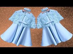 Diy Designer Butterfly Frock For 4 To 5 Year Baby Girl Cutting & Stitching Full Tutorial Baby Frock Pattern, Frock Patterns, Baby Dress Patterns, Little Girl Pageant Dresses, Baby Dresses, Girls Dresses, Baby Girl Frocks, Frocks For Girls, Kids Frocks Design