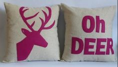 Oh deer pillows WANT :)