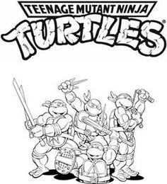 tmnt coloring pages on pinterest - photo#9
