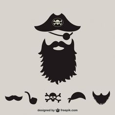 More than a million free vectors, PSD, photos and free icons. Exclusive freebies and all graphic resources that you need for your projects Beard Silhouette, Silhouette Clip Art, Silhouette Cameo Projects, Deco Pirate, Pirate Images, Wallpaper Background Design, Beard Art, Pirate Crafts, Pirate Shirts