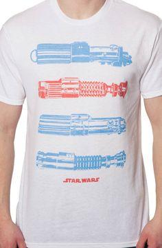 Lightsabers T-Shirt: 80s Movies Star Wars T-shirt