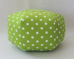 Ready to Ship  18 Ottoman Pouf Floor Pillow Polka Dot by aletafae, $95.00 Locker Lookz, Pouf Ottoman, Outdoor Furniture, Outdoor Decor, Floor Pillows, Polka Dots, Houses, Ship, Flooring
