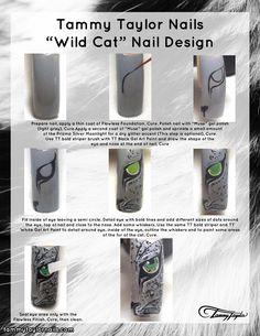 "Tammy Taylor Nails ""Wild Cat"" Nail Design"