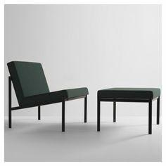 Ilmari Tapiovaara - Kiki chair and ottoman for Artek [1960] Upholstered in Reflex by Raf Simons for Kvadrat