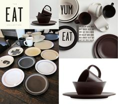 K by #Keaton, as in Diane Keaton's line of dinnerware available at Bed, Bath & Beyond.