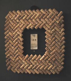 wine cork frame herringbone pattern                                                                                                            recent cork project             by        ursula76      on        Flickr