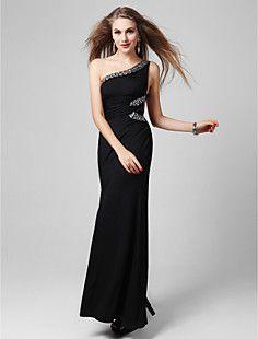 Gaine / colonne une épaule cheville longueur robe de soirée ... – USD $ 89.69