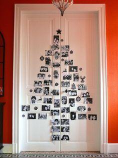 Sapin+de+Noël+avec+des+photos+souvenirs,+idéal+pour+une+activité+manuelle+avec+les+enfants+!