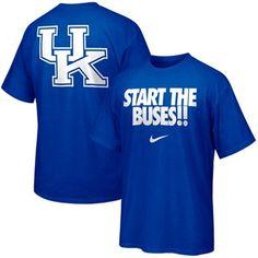Nike Kentucky Wildcats Campus Roar T-shirt-Royal Blue