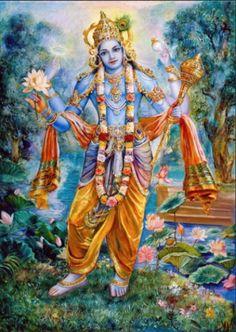 Lord Vishnu painted by Pushkar das