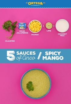 Add some sweet heat to your Cinco de Mayo celebration this year by serving this Spicy Mango sauce alongside your Mexican dishes! It's delicious on top of crispy chicken tacos, fish tacos, seafood tostadas, carnitas or al pastor. Blend together 1 mango, 1 Cheap Healthy Dinners, Healthy Pizza Recipes, Mexican Food Dishes, Mexican Food Recipes, Crispy Chicken, Chicken Tacos, Healthy Ground Turkey, Mango Sauce, Lemon Diet