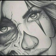 Image result for clown woman drawing