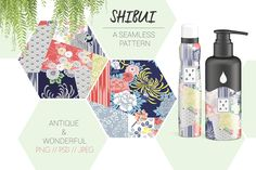 Ad: The Shibui Japanese seamless pattern set is a group of trendy designs from antique kimono textiles. The Japanese patterns are ideal for product packaging, invitations, stationery, and more! $18