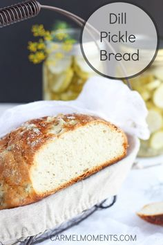 Dill Pickle Bread - Delicious yeast bread made with real pickles and fresh dill. Unique goodness! @carmelmoments