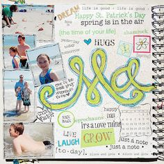@Shannon Morgan's March SMASH journal is chock full of SRM Stickers as embellishments for her photos, doodling and journaling!