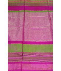 Pink  Handloom Uppada Silk Saree
