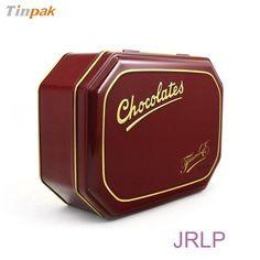 octagonal chocolate tin box