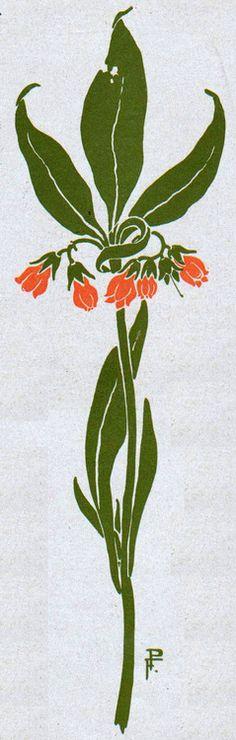 Vignette by P. Fliegner, Jugend magazine, 1902.