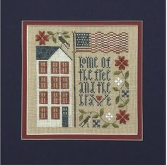 Free and Brave by The Drawn Thread trending and 10% off https://stitchandfrog.com/cross-stitch/free-and-brave