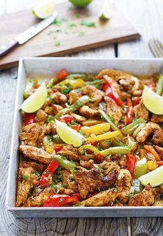 Sheet Pan Spicy Chicken Fajitas