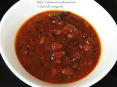 Bengali Tomato Khejur Aamshottor Chutney | Tomato, Date, Mango Leather Chutney