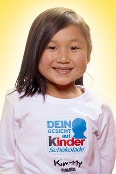 """""""Dein Gesicht auf Kinder Schokolade"""": Kim-My (Quelle: Ferrero)"""