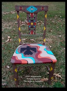 hand painted furniture - painted chair