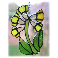 Cowslip Suncatcher Stained Glass Yellow Spring Flower £14.00