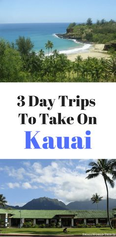 From the lush North Shore to the scenic canyons of the Westside, here's are three day trips to take when on the beautiful island of Kauai | kauai travel | kauai things to do #kauai