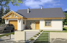 Projekt domu Ambrozja 2A garaż 135,3 m2 - koszt budowy - EXTRADOM Beautiful House Plans, Beautiful Homes, Belfast, Garage Doors, Shed, Bedroom Decor, Outdoor Structures, Contemporary, Places