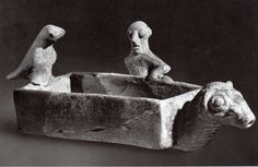 Hittite, rhyton, ram-headed little tub with man and bird figüre, Kültepe- Kaniş, 1900 BC, Museum of Anatolian Civilisations, Ankara