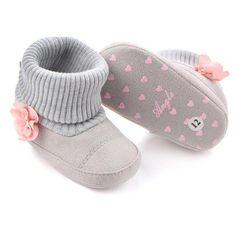 Jinjiu Newborn Baby Girl Cat Bowknot Mary Jane Princess Anti-Slip Shoes