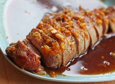 Honey orange pork tenderloin. The prep and cooking instructions are excellent. I will work up an alternate sauce without honey.