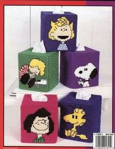 Peanuts tissue box covers                                                                                                                                                                                 More