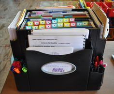 I like this. Mental note to create a mobile homeschool command station.
