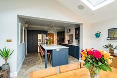 Bespoke kitchens expertly crafted, designed and handmade in Kent from Herringbone Kitchens. Visit our kitchen studio in Canterbury. Kitchen Family Rooms, Living Room Kitchen, Home Decor Kitchen, Kitchen Interior, New Kitchen, Home Kitchens, Kitchen Design, Kitchen Ideas, Dining Room