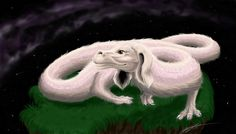 Falcor, the Luck Dragon by BahamutDeusModus