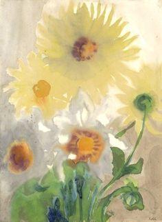 Emil Nolde, Yellow Dahlia,1930