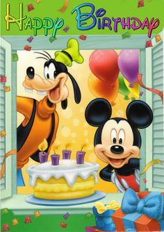 55 Ideas Happy Birthday Wishes Disney Clip Art Disney Birthday Wishes, Happt Birthday, Happy Birthday Mickey Mouse, Birthday Wishes Greetings, Happy Birthday Kids, Happy Birthday Wishes Images, Happy Birthday Pictures, Birthday Songs, Photos